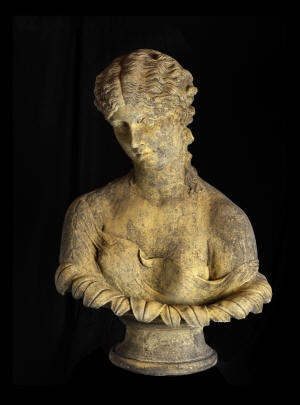 Bust of Antonia & Fluted Column