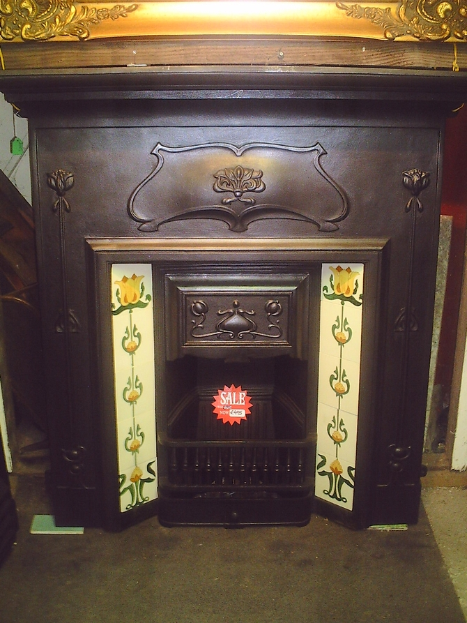 Cast Iron Combination Fireplace with Tiles AR543