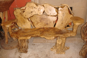 tree root bench (Stock AR359)